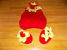 Toddler Size 4-5T Gymboree Strawberry Halloween Costume w Headpiece & Shoes EUC