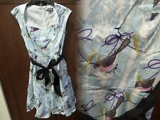 NWT Retrolicious Whistle While you Quirk Dress Sz M  Bird Print Measurements