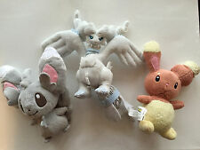 "Pokemon Minccino Black & White Reshiram Banpresto Buneary 7"" Plush Toys"