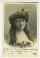 c 1903 Vintage French Theater MOULIN ROUGE Mlle. Kelly photo postcard