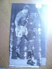 Original Hand Signed Press Cutting- DE ZEEUW, Dutch Footballer