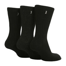 3 Pairs Mens Jeep Wool Blend Ribbed Walking Socks Size 6-11 Uk - Black/Grey JE2