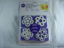 Wilton Cake Stamp Set - Flowers - 4 Piece Set - Cake Decorating