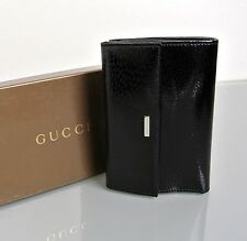 New Authentic GUCCI Patent Leather Wallet w/Coin Purse New In Box! 143388
