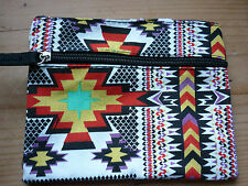 AZTEC PRINT PURSE ZIP BN ETHICALLY TRADED YELLOW AND PURPLE