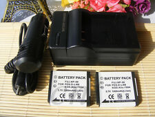 2X NP-50Battery&charger for Fujifilm Fuji X10 X20 XF1 F800EXR F900EXR 3DW3