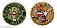 "ARMY FORT MCPHERSON GEORGIA 2"" CHALLENGE COIN"