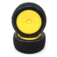 LC Racing 12mm Mounted Rear Tire Set Yellow EMB-1 EP 1:14 RC Cars Buggy #L6001Y