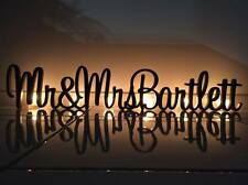 Personalised custom wedding Mr & Mrs surname freestanding unpainted wooden sign