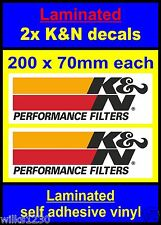 Laminated 2x K&N performance filter rally race decal type-R subaru 350z vw ford