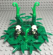 Lego New MOC Friends Panda Mini Figures Animal Pet Zoo Park With Bamboos Plants