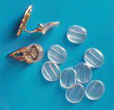 100 small plastic comfort sleeves for clip on earrings