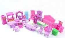 Plastic Furniture Dolls House Family Christmas Xmas Toy Set for Kids Children fb
