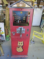 "VINTAGE COIN OPERATED "" SHOOT THE PUSSY "" TARGET SHOOTING  ARCADE GAME"