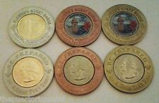 Set 3 BOYS SCOUTS Gold & Color Encased Anillado PUERTO RICO Lucky Penny Quarters