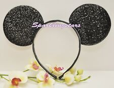 1 Mickey Mouse Shimmer Ears Headband Black Party Favor Costume Mickey