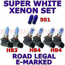 TOYOTA COROLLA 2002-2004  SET HB3  HB4  HB4 501 XENON SUPER WHITE  LIGHT BULBS
