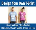LADIES PRINTED T-SHIRTS, Personalised, Photos, Images, Text, Parties, Fun, Gifts