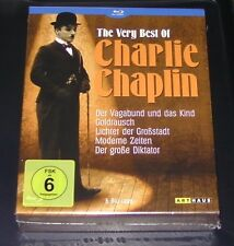 THE VERY BEST OF CHARLIE CHAPLIN BLU RAY 5 DISC SET SCHNELLER VERSAND NEU & OVP