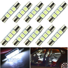 10X White 29mm 3-SMD T6 5050 LED Bulb For Car Sun Visor Vanity Mirror Fuse Light