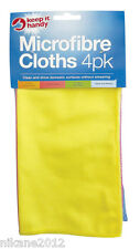 microfibre cloths 4 x pack polishing cleaning dusting new quality micor fibre