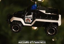 Police K9 Unit Truck Special Ops 1/64 Custom Christmas Ornament Dog Canine Jeep