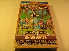 Rare VHS Tape SNOW WHITE Classic Stories MEL-0-TOONS Kids Klassics 1986 [Y70b]
