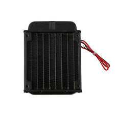 Aluminum 80mm Water Cooling cooled Row Heat Exchanger Radiator+Fan for CPU PC