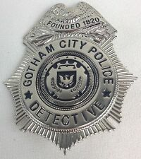 Gotham City Police Detective TV Series Badge Prop Replica New W/ Holder on Chain