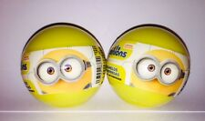 2  New MINIONS MOVIE PLASTIC SURPRISE EGG BALL WITH Candy/sticker/toy