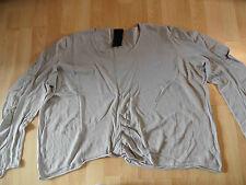 RUNDHOLZ black label leichter Pullover m. Leinen taupe-beige EG NEUw.  HMI516