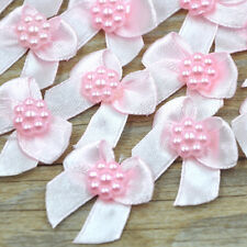 Mini Satin Ribbon Flowers Bows Gift Craft Wedding Decoration ornament A262