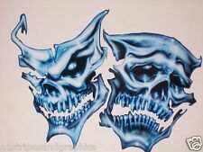 EVIL Blue Mask SKulls  Window Decal  Decals Sticker stickers Skull Graphics