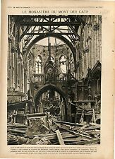 Ruines Abbaye du Mont des Cats Godewaersvelde Nord France/ Greece Army 1918 WWI