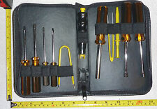 11 pc Computer Service Tool Kit w/Zipper Case - Electronic Repair - NEW
