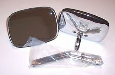 "NEW HARLEY Chrome Die Cast Mirrors Superglide FLH Sportster 4"" long"
