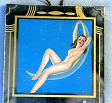 Vintage 1943 Advertising Mirror with Calendar -- Naked Pin up Girl