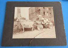 *Original* HORSE DRAWN PARADE CART FLOAT 4th of July 1906 11 x 14 Cabinet Photo