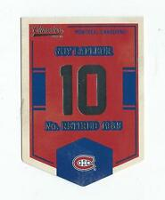 2012-13 Classics Signatures Banner Numbers #42 Guy Lafleur Canadiens
