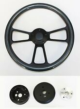1948-1959 Chevy Chevrolet Pick Up Truck Carbon Fiber on Black Steering Wheel 14""