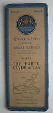 1945 OS Ordnance Survey quarter-inch map fourth edition 3 The Forth Clyde & Tay