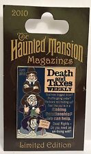 Disney - Haunted Mansion Magazines - Death and Taxes Weekly LE 2500 Pin