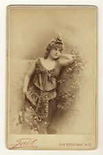 A SOUBRETTE OF MAJOR PROMISE: STAGE ACTRESS EDITH MURILLO (CABINET CARD)