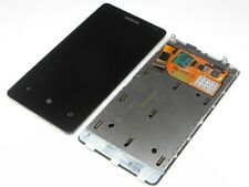 ORIGINALE Nokia Lumia 800 LCD DISPLAY TOUCH SCREEN CORNICE COVER VETRO NUOVO