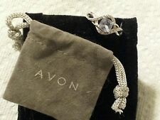 Gorgeous Avon Sterling Silver Faux Aquamarine Ring Size 7