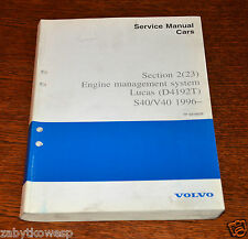 VOLVO S40/V40 SERVICE MANUAL  ENGINE MANAGEMENT SYSTEMS LUCAS