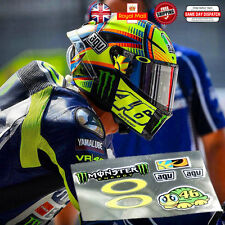 Valentino Rossi 46 Latest Laminated 3M Reflective Helmet Decals Sticker Set 1:1