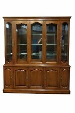 DAVIS CABINET Old World Collection Solid Wood 74″ Buffet w Lighted China Cabinet