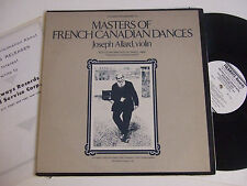 JOSEPH ALLARD Masters of French Canadian Dances Biogr. insert Folkways G. Labbé