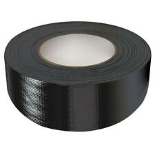 "Black Gaffa Tape Gaffer Duct Tape Strong Cloth Tape 2"" Wide 50 metre Roll NEW"